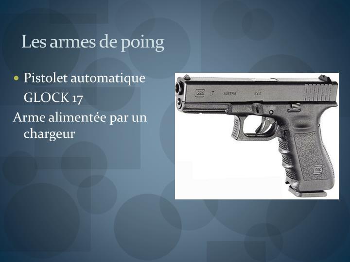 Les armes de poing