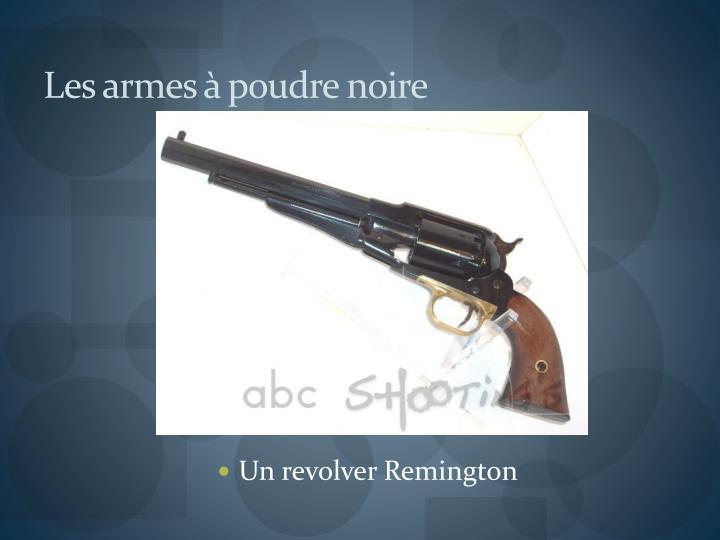 Les armes à poudre noire