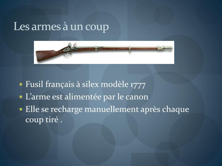 Les armes à un coup