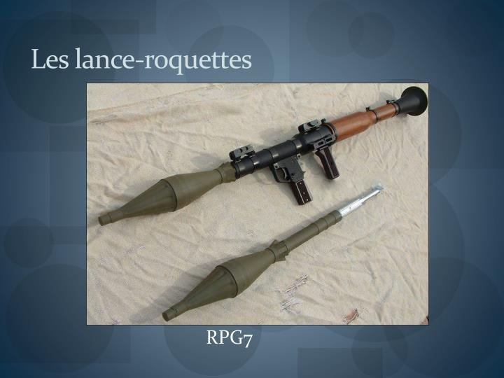Les lance-roquettes