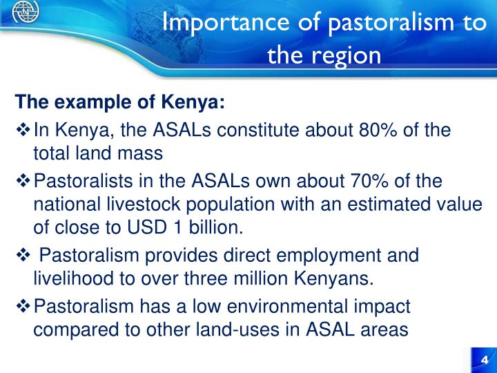 Importance of pastoralism to the region