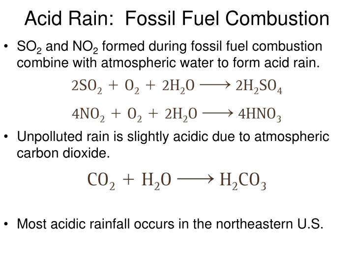 Acid Rain:  Fossil Fuel Combustion
