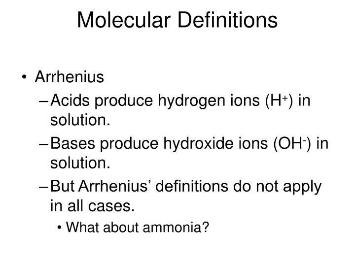 Molecular Definitions