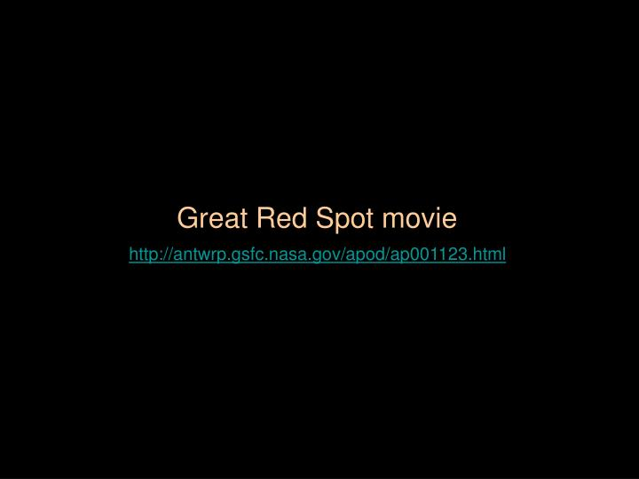 Great Red Spot movie