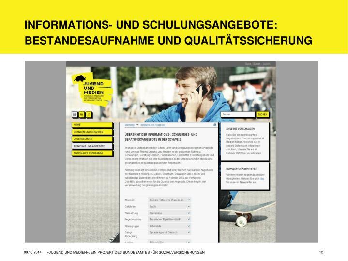 Informations- und Schulungsangebote: