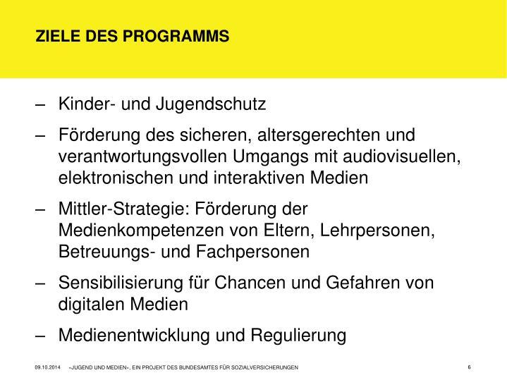 Ziele des Programms
