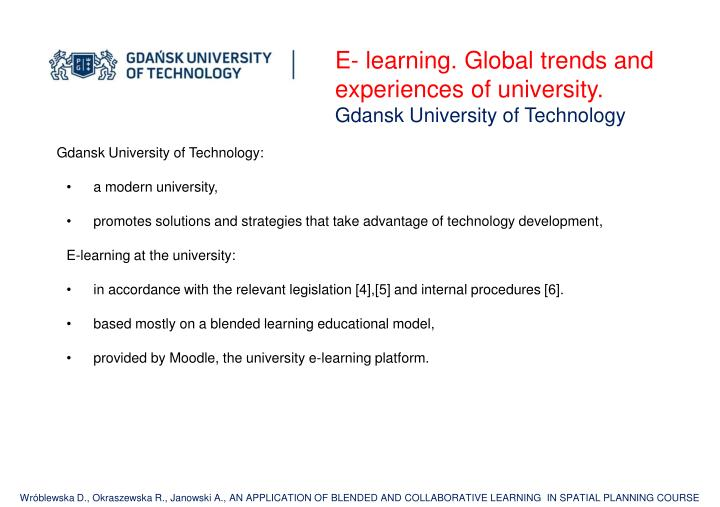 E- learning. Global
