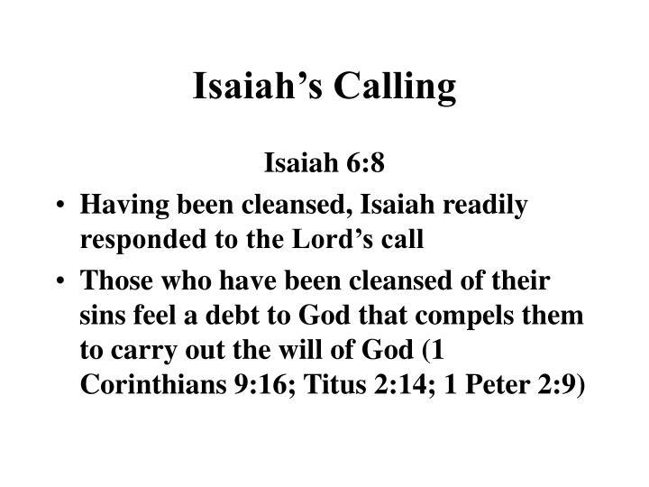 Isaiah's Calling