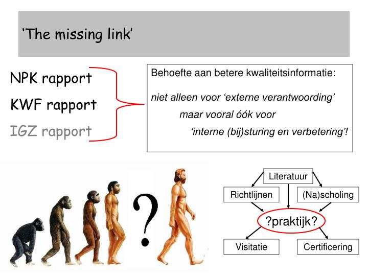 'The missing link'