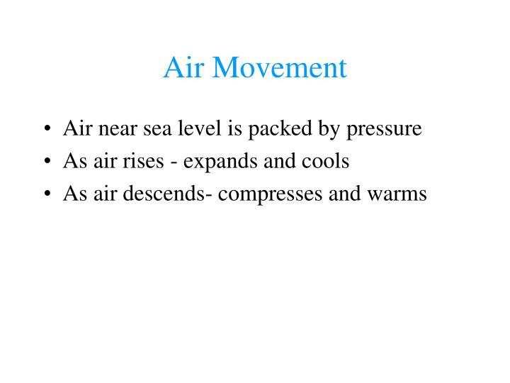 Air Movement