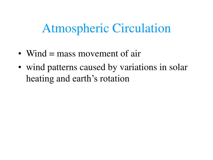 Atmospheric Circulation