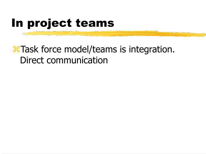 In project teams