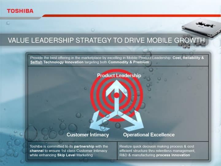 VALUE LEADERSHIP STRATEGY TO DRIVE MOBILE GROWTH