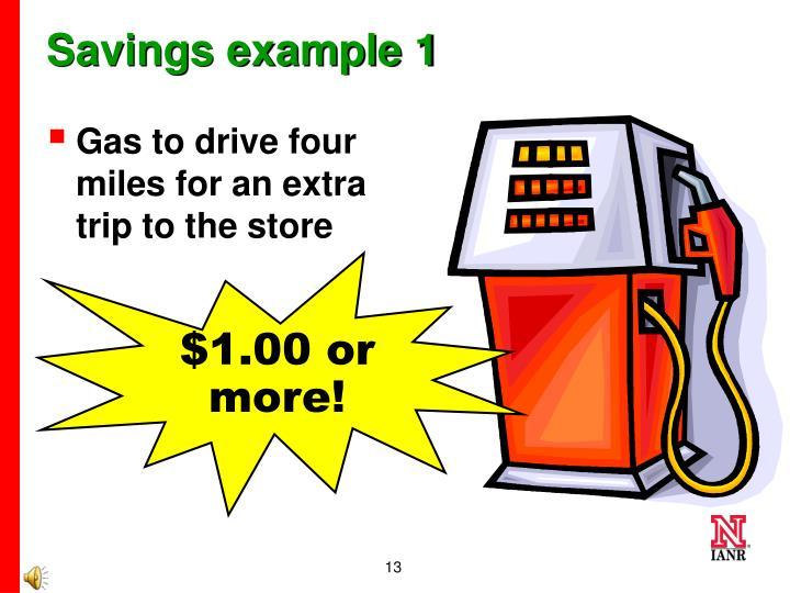 Savings example 1