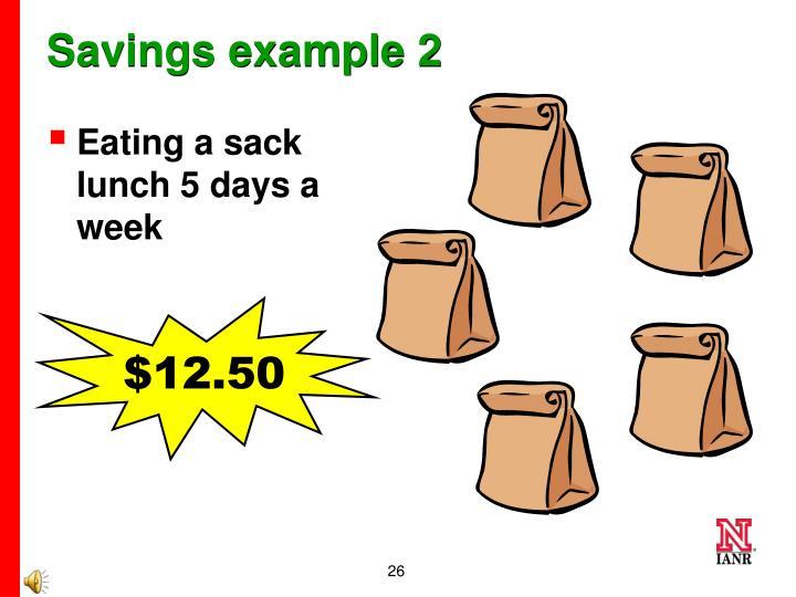 Savings example 2