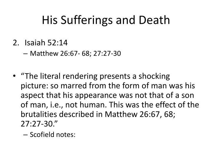 His Sufferings and Death