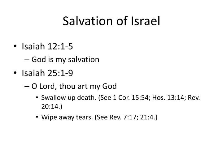 Salvation of Israel