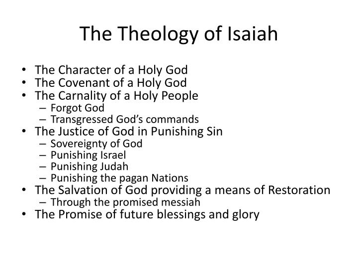 The theology of isaiah