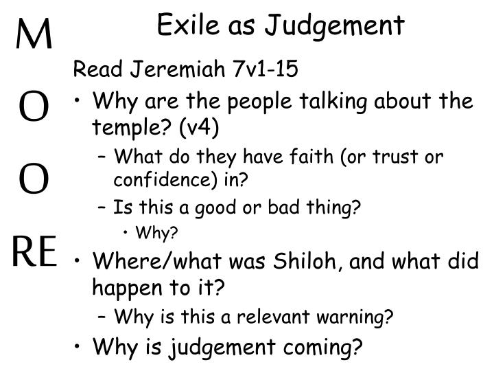 Exile as Judgement