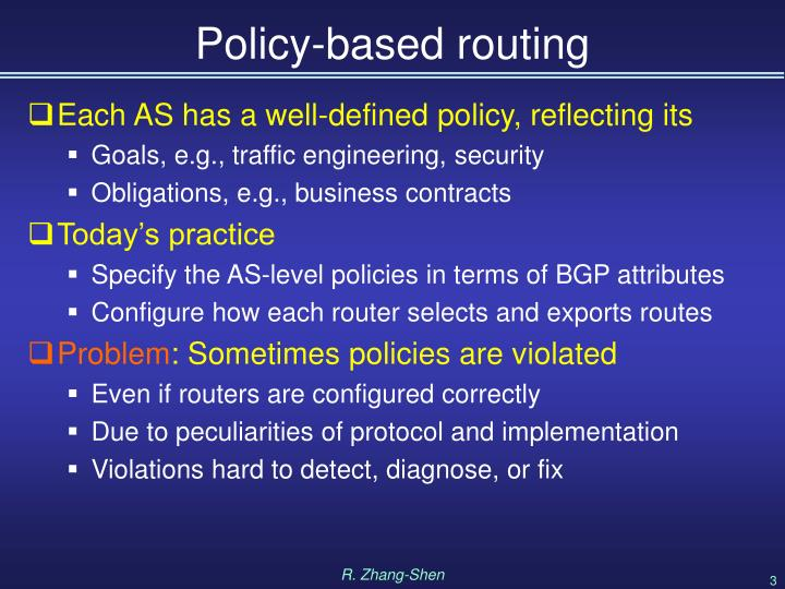 Policy-based routing