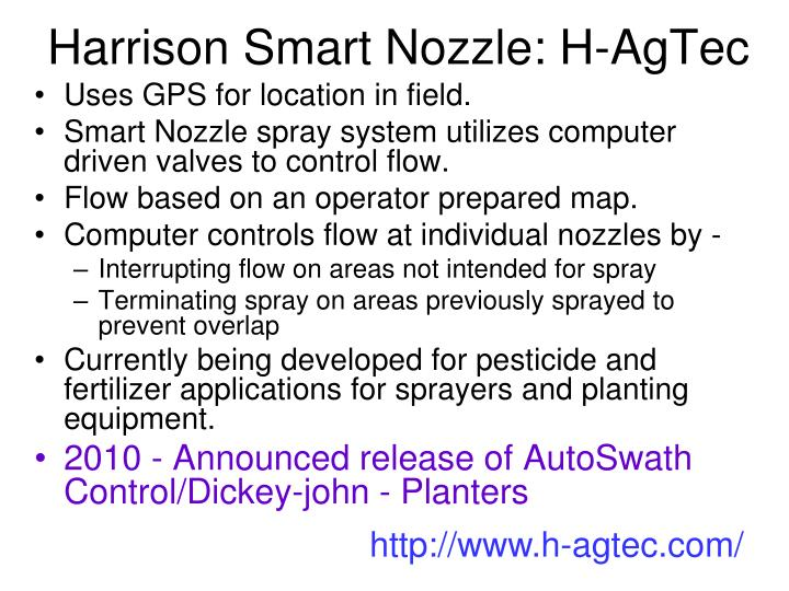 Harrison Smart Nozzle