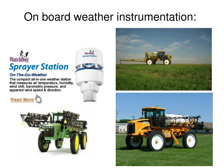 On board weather instrumentation: