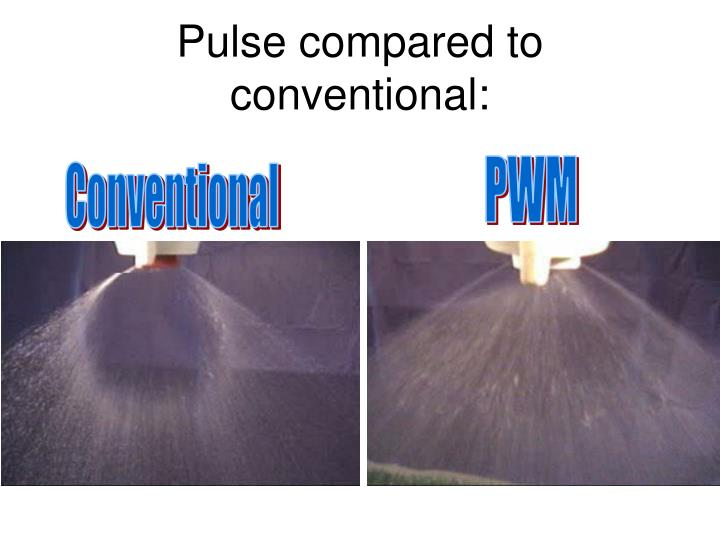 Pulse compared to conventional: