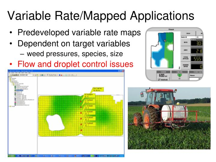 Variable Rate/Mapped Applications