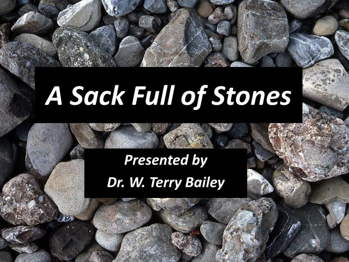 A sack full of stones
