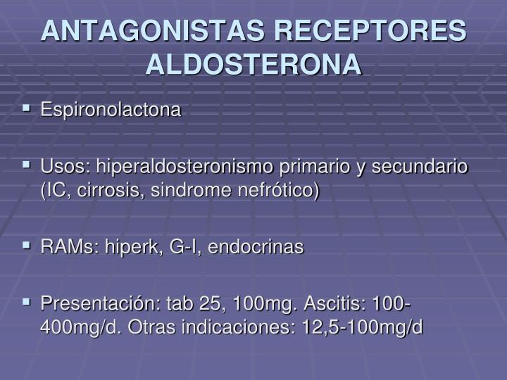 ANTAGONISTAS RECEPTORES ALDOSTERONA