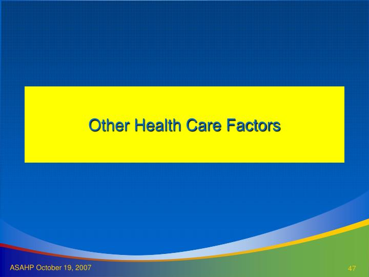 Other Health Care Factors