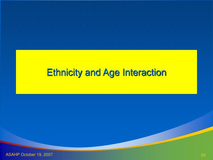 Ethnicity and Age Interaction