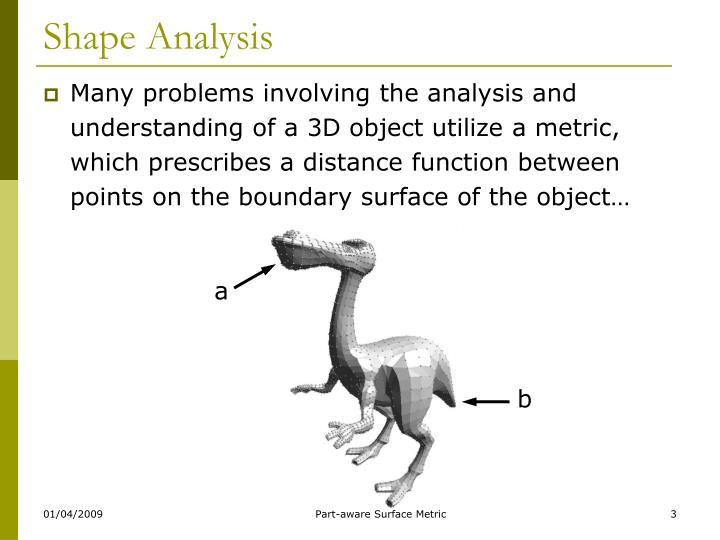 Shape analysis