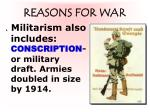 reasons for war3
