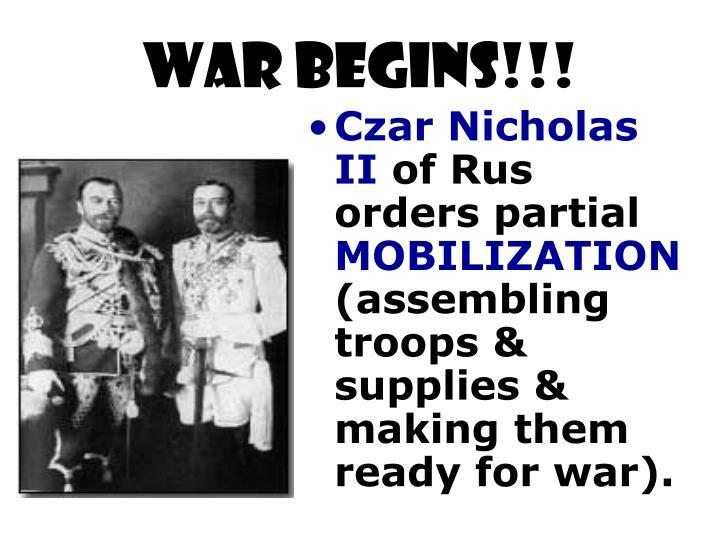 WAR BEGINS!!!