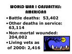 world war i casualties american