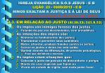 igreja evang lica s o s jesus e b li o 23 09 09 2013 e b hinos exaltam a justi a e a lei de deus10