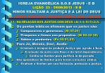igreja evang lica s o s jesus e b li o 23 09 09 2013 e b hinos exaltam a justi a e a lei de deus5