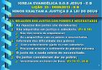 igreja evang lica s o s jesus e b li o 23 09 09 2013 e b hinos exaltam a justi a e a lei de deus7