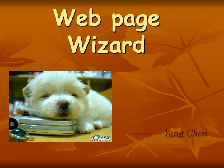 Web page Wizard