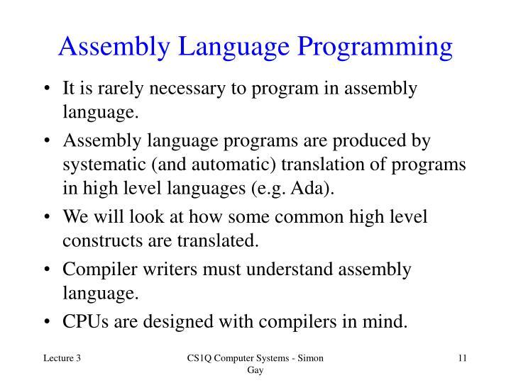 Assembly Language Programming