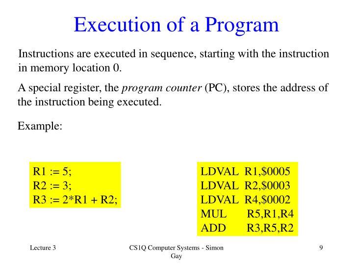 Execution of a Program