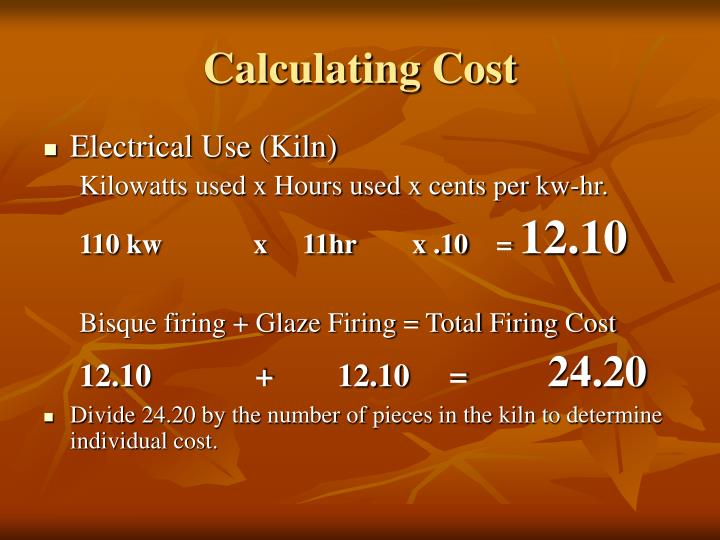 Calculating Cost