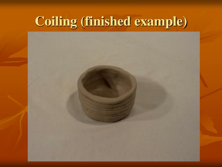 Coiling (finished example)