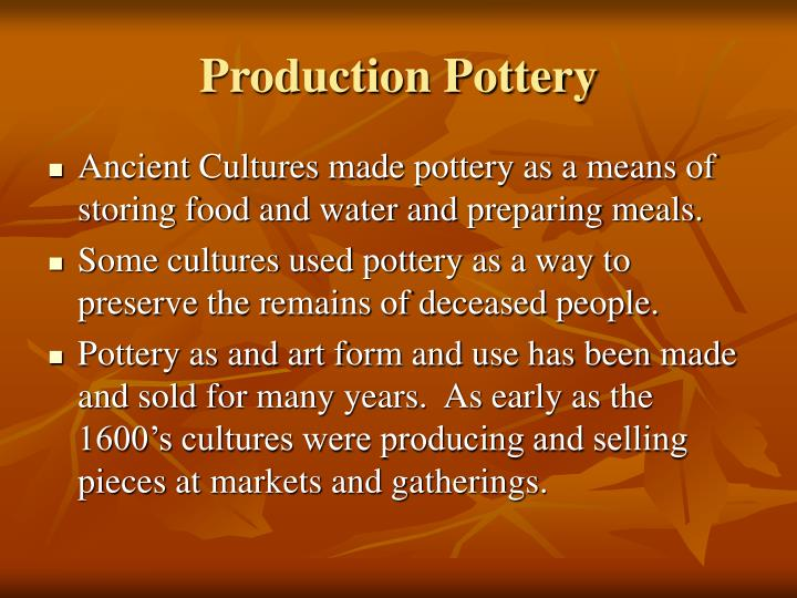 Production Pottery