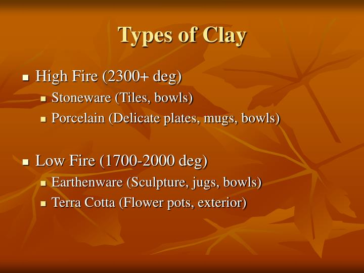 Types of Clay