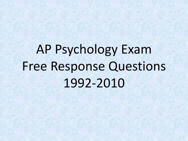 Ap psychology essay questions