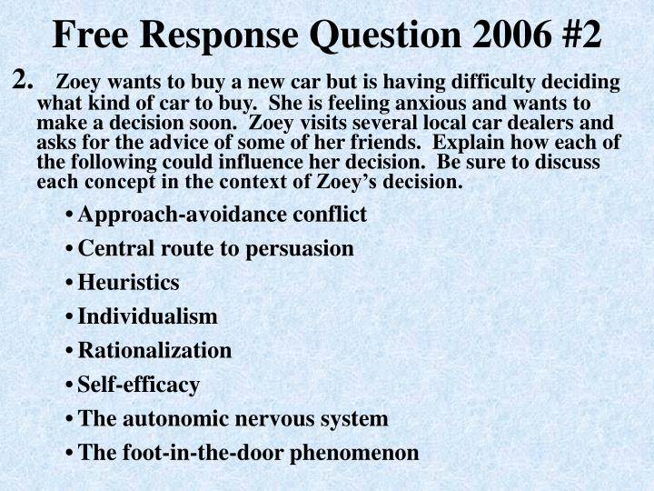 ap psychology essay 2006 This is the second course in a two-part advanced placement psychology series (ap psy 059 and ap psy social psychology unit 6: ap psychology essay.