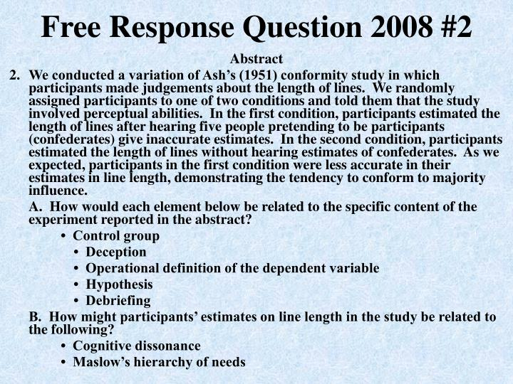 ap psychology essay 2005