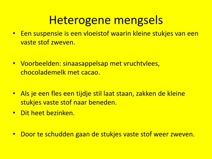 Heterogene mengsels